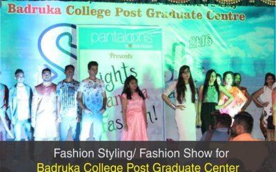 Organized Fashion Show at Badruka College for Post Graduation